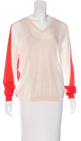 Jil SanderJil Sander Colorblock V-Neck Sweater