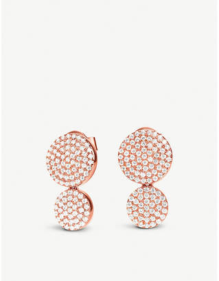 Folli Follie Discus rose gold-plated earrings