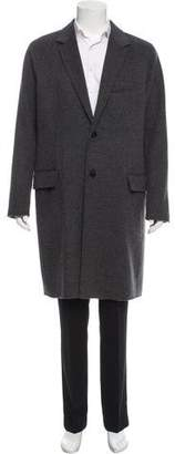 Vince Woven Button-Up Coat