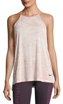 Nike Breathe T-Back Loose Training Performance Tank, Pink $45 thestylecure.com
