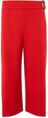 Dorothy Perkins Womens Red Horn Crop Trousers