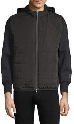 Black Barrett Padded Zip-Front Jacket