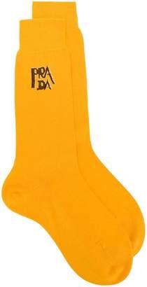 Prada intarsia knit logo socks