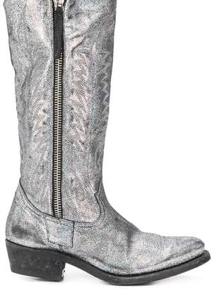 Golden Goose Golden Zip metallic boots