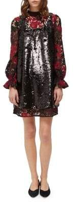 5f09521c French Connection Cynthia Lace & Sequin Shift Dress