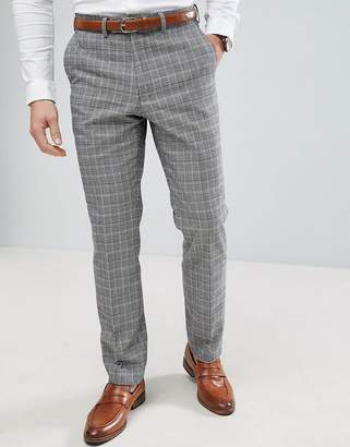 French Connection Prince Of Wales Blue Check Slim fit Suit Pants