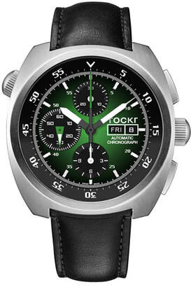 Green & Black Tockr Watches Men's Air Defender Chronograph Watch, Green/Black