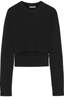 Michael Kors Collection - Cutout Cashmere Sweater - Black $695 thestylecure.com