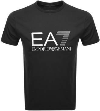 Emporio Armani EA7 Crew Neck Logo T Shirt Black