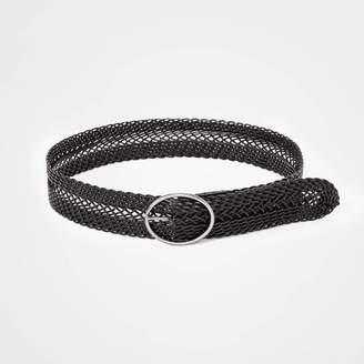 Universal Thread Women's Wide Braided Belt Black