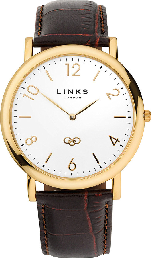 Links Of London Links Of London Noble yellow-gold plated watch