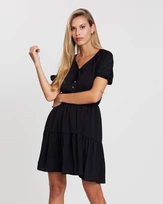 Cotton On Woven Satin Button-Up Tea Dress