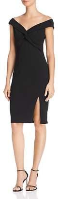Aqua Portrait Collar Twist-Front Dress - 100% Exclusive