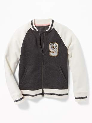 Old Navy Color-Blocked Sequin-Graphic Bomber Jacket for Girls