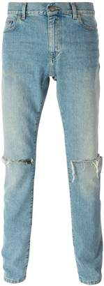 Saint Laurent distressed slim jeans
