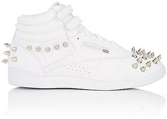 Comme des Garcons Junya Watanabe Women's Studded Leather Sneakers - White