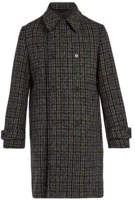Stella McCartney Houndstooth Wool Blend Coat - Mens - Grey