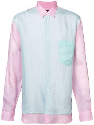 Comme des Garcons double layer collared shirt