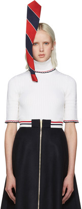 Thom Browne Tricolor Stephen Jones Edition Tie Headpiece $890 thestylecure.com