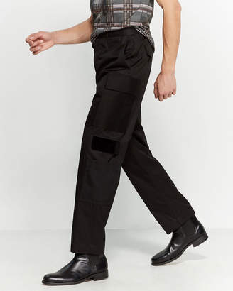 Alexander McQueen Black Cargo Dress Pants