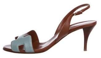 Hermes Leather Night Slingback Sandals
