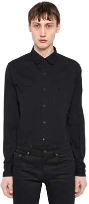 Saint Laurent Cotton Denim Western Shirt
