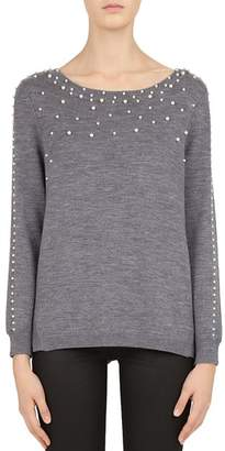 Gerard Darel Catherine Embellished Merino-Wool Sweater