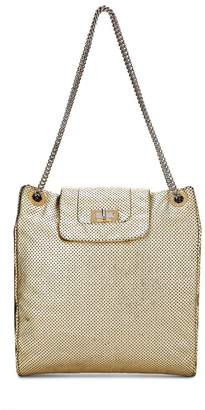Chanel Gold Perforated Leather Tote