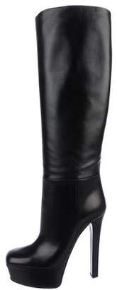 Gucci Knee-High Leather Platform Boots