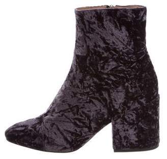 Dries Van Noten Crushed Velvet Ankle Boots w/ Tags
