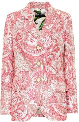 Dolce & Gabbana Metallic silk-blend jacquard jacket