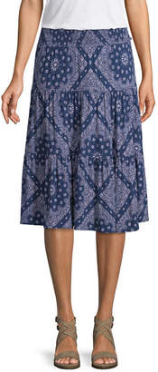 ST. JOHN'S BAY Womens Mid Rise Midi Full Skirt