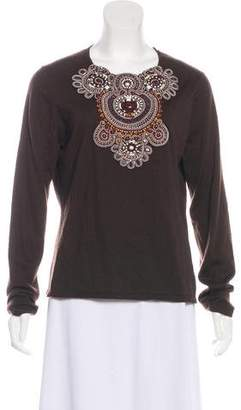 Naeem Khan Cashmere Knit Sweater