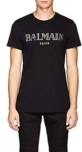 Balmain Men's Logo Cotton T-Shirt - Black