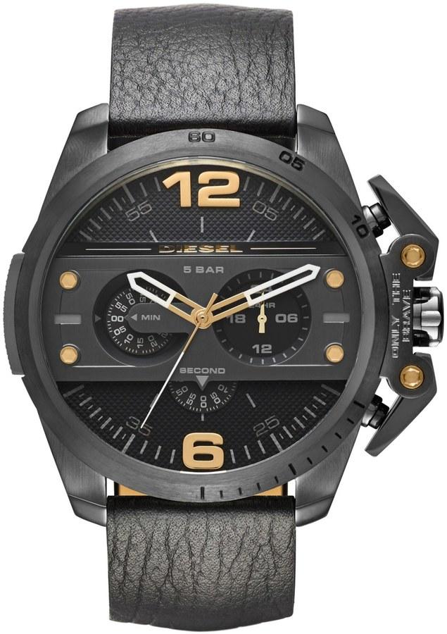 DieselDiesel Men's Ironside Leather Strap Watch