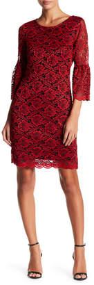Robbie Bee Lace Ruffle Long Sleeve Dress