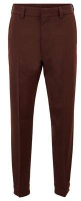 BOSS Micro-patterned relaxed-fit trousers with adjustable hems