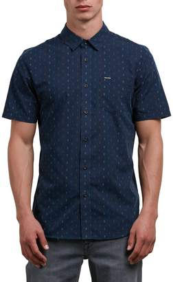 Volcom Men's Rollins Short Sleeve Button up Shirt