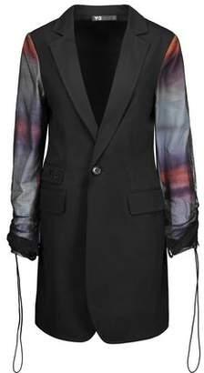 Y-3 + Adidas Originals Mesh-Paneled Cotton Blazer