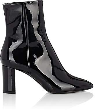 Saint Laurent Women's Loulou Patent Leather Ankle Boots