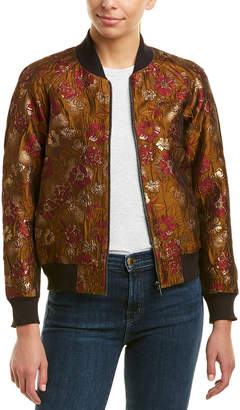 French Connection Oma Jacquard Bomber Jacket