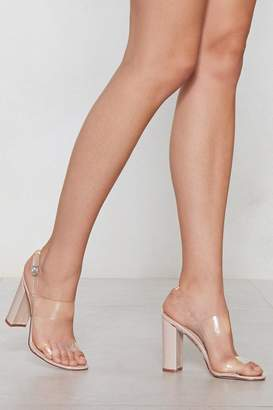 Nasty Gal Wait and See Clear Heel