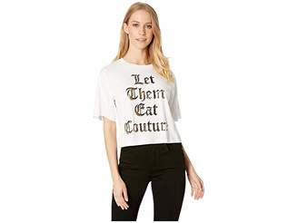 Juicy Couture Knit Let Them Eat Couture Graphic Tee Women's T Shirt