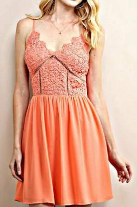 Soieblu Coral Floral-Lace Dress