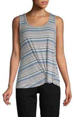 Max Studio Striped Sleeveless Top
