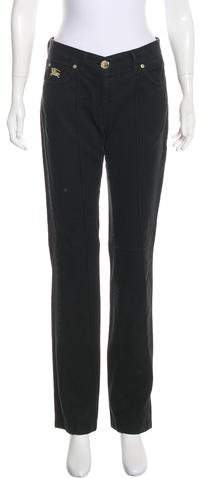 Burberry London Straight-Leg Mid-Rise Jeans