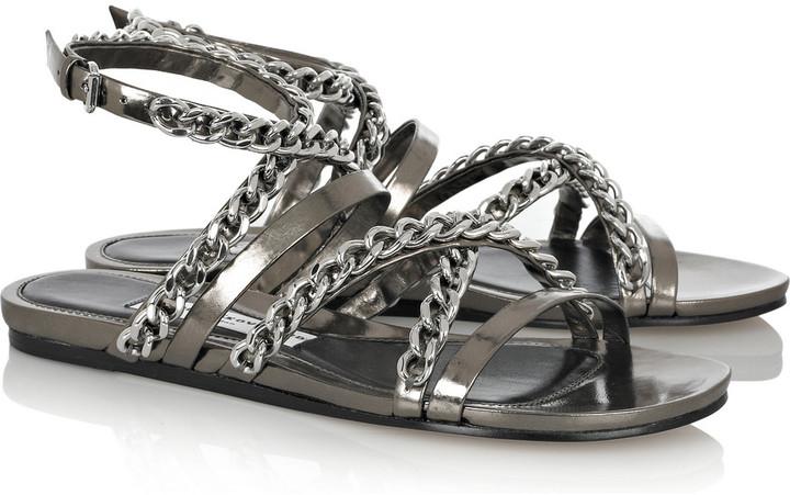 Camilla Skovgaard Chain-embellished leather sandals