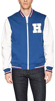 Tommy Hilfiger Men's Retro Varsity Bomber Colorblock Track Jacket
