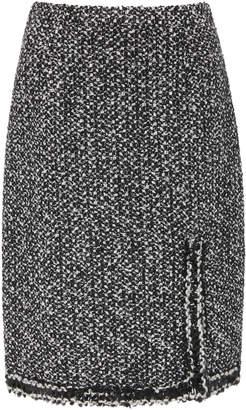 Giambattista Valli Frayed Tweed Midi Skirt