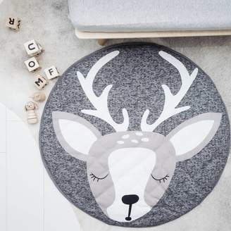 Norse Folk Baby And Children's Grey Deer Playmat